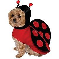 Lady Bug Pet Costume Medium, Red