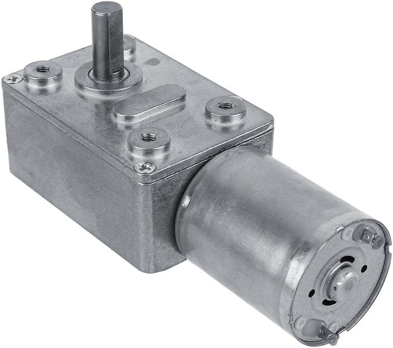 Motor reductor de gusano reversible de alto par Motor de reducción de CC 12V CW/CCW(40RPM)