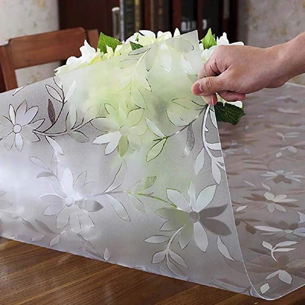Color : 2mm, Size : 60x120cm LIUDINGDING-zheyangwang Copritavola in plastica Trasparente Copritavolo in PVC Resistente Lavabile da 2 mm Impermeabile