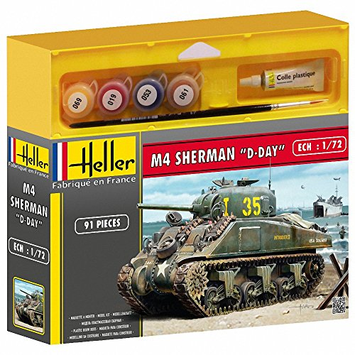 Heller M4 Sherman Tank with Paint and Glue