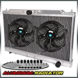 "Aluminum Racing Radiator For 95-99 ECLIPSE GS-T GSX TURBO 2G MT/MANUAL + 10"" Fan"