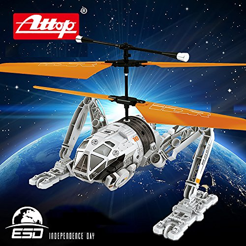Premium Exclusively Licensed Independence Day Infrared Remote Control Helicopter RC Drone, 2.5-Channel w Gyroscope, Multi Flying Directions, Long flight time, Light Weight, YD-drone-IDR902