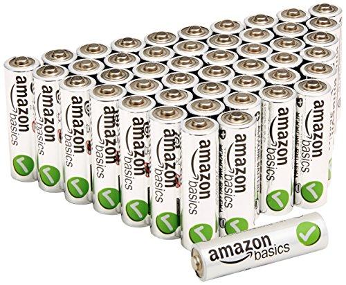 AmazonBasics AA Performance Alkaline Batteries (48-Pack)