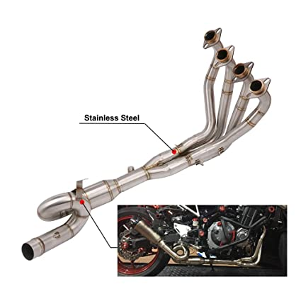 Amazon com: Motorcycle Modified Full Exhaust System Pipe Front
