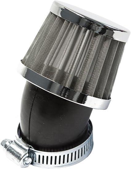 Sport Luftfilter Stahlgewebe Maxtuned Für 17 5mm Vergaser 45 Abgewinkelt 35mm Anschlussweite Auto