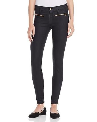 Frame Denim Women\'s Le Skinny De Jeanne Side Zip Jeans, Onyx (Black ...