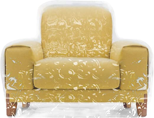 Plastic Sofa Couch Cover Pets Cat Scratching Protector Durable Clear Thick Vinyl