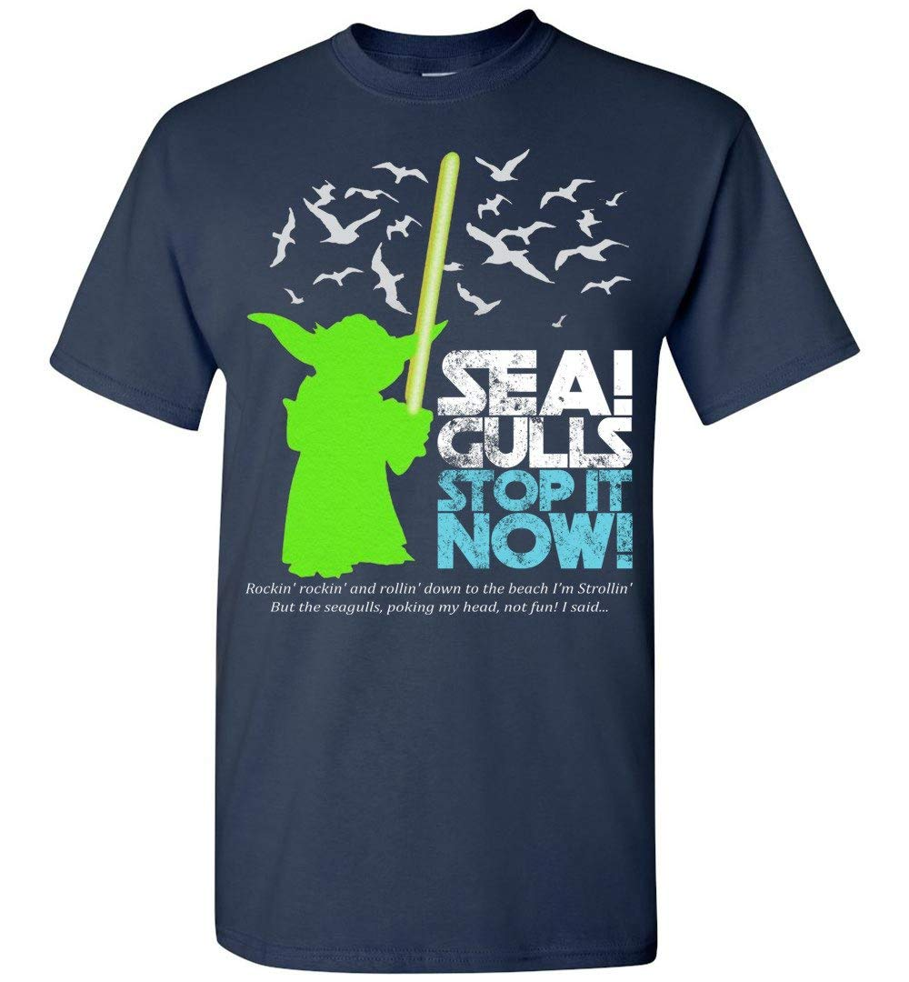 Seagulls Stop It Now Tshirt Funny Seagulls Adult And
