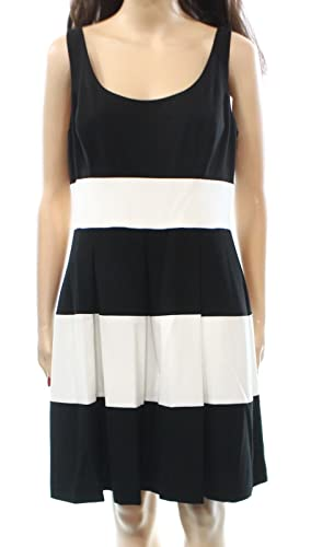 Lauren Ralph Lauren Women's Petite Pleated Dress Black 0P