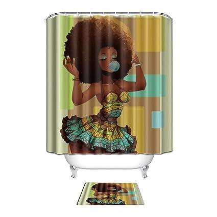 Amazon Vandarllin Custom African Woman Polyester Fabric