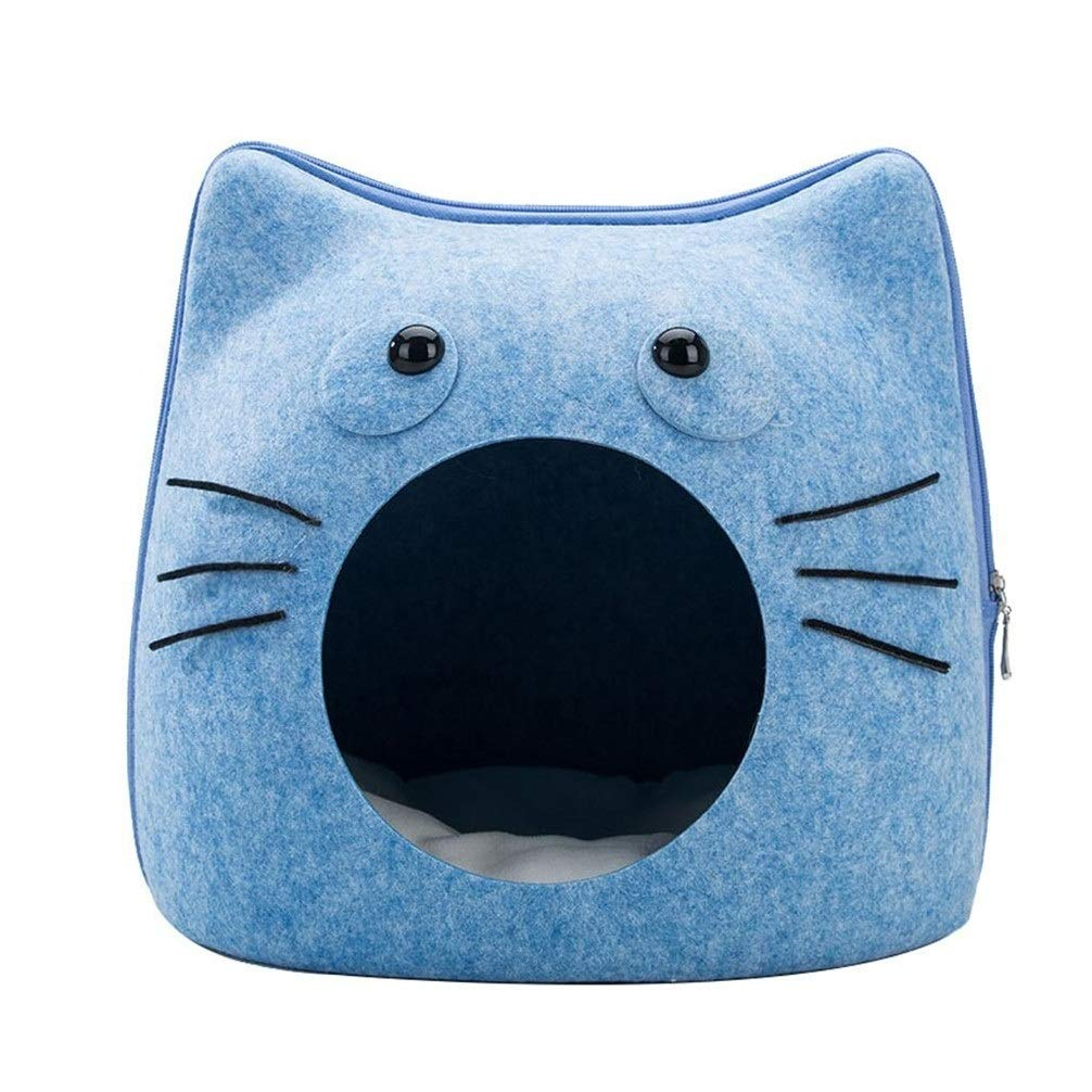 Chunchun Creative Felt Pet Beds Most Lovely Pet House Gift for Pet Cat Litter Kennel Removable Pet Blue by Chunchun