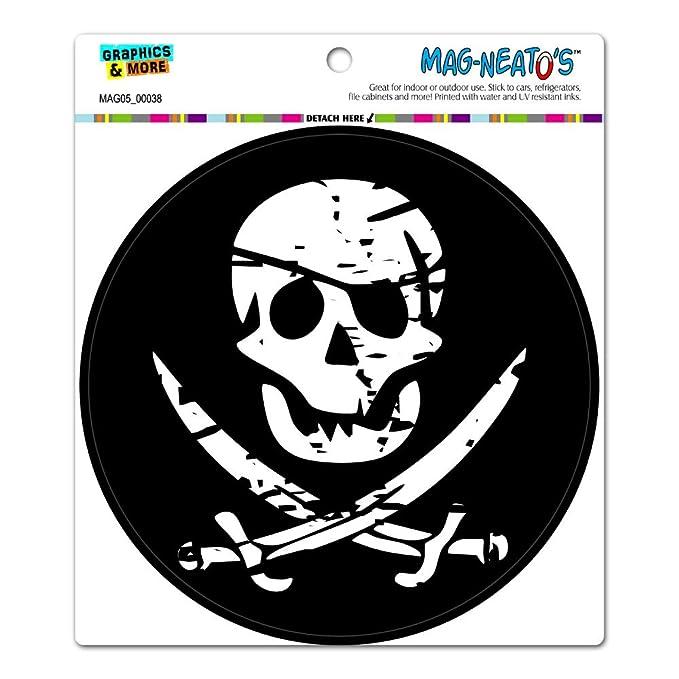 pirat skull totenkopf gekreutzten schwerter kreis mag neato s tm