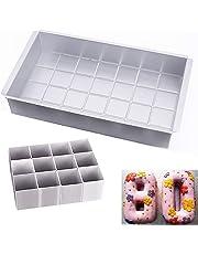 AOBETAK Juego de moldes para tartas (aluminio, rectangulares, ajustables, para bodas,