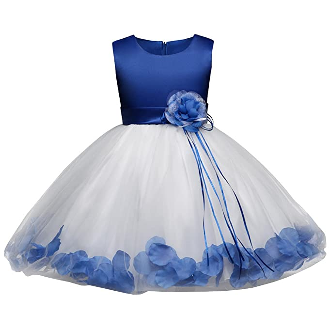 Ankoee Princesa Vestido de niña de flores para la boda Vestidos de Dama De Honor Sin