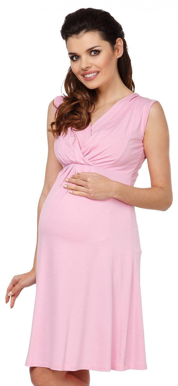 Womens Maternity Nursing A-line Dress V-Neck Sleeveless 808c Zeta Ville
