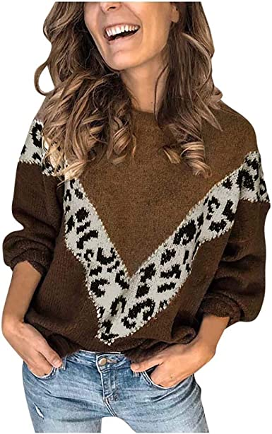 Sylar Jersey Mujer Invierno Cuello Redondo Suéter de Punto ...