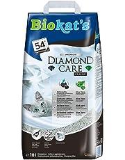 Biokat's Diamond Care Classic, litière pour chats – Litière agglomérante de qualité supérieure pour chats, au charbon actif et à l'Aloe vera – 1 sac en papier (1 x 10l)