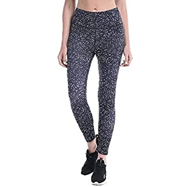 0605a861052a89 Women Yoga Running Pants Dance Cropped Leggings High Waist Stretch Trousers  Yoga Pants at Amazon Women's Clothing store: