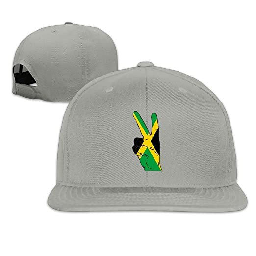 9495ae0ccc9 Peace Sign of Jamaica Flag Plain Adjustable Snapback Hats Men s Women s  Baseball Caps at Amazon Men s Clothing store