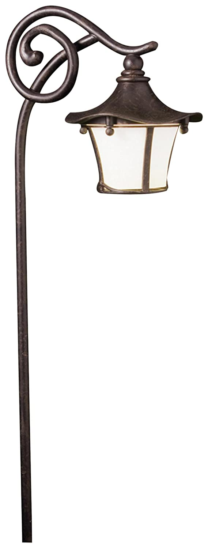 Kichler 15420AGZ Cotswold Path & Spread 1-Light 12V, Aged Bronze
