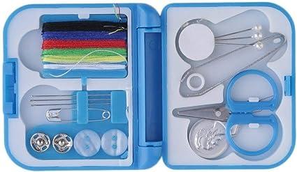 Sunnyday Herramienta Elegante Completa del Hilo de Coser Aguja Tijera dedal plástico Mini Caso del almacenaje del Kit de Costura para el Recorrido de Uso en el hogar: Amazon.es: Juguetes y juegos