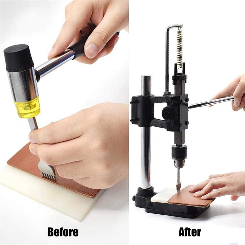 TOPQSC Outils de perforation de presse manuelle Machine dimpression de d/écoupe de cuir bricolage Pince Emporte Piece avec 6 Poin/çons Pince Perforatrice pour Cuir Cintures Bracelets