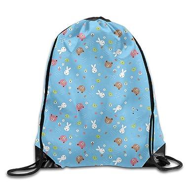 Amazon Com Bunny And Bear Diy Printed Drawstring Bags