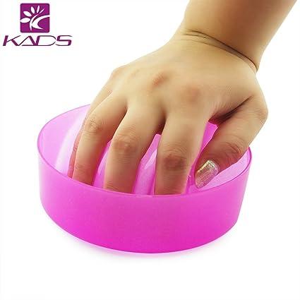 KADS Bandeja Para Quitar el Esmalte de Uñas cuenco de manicura remoja dedos rosa