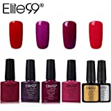 Elite99 Esmalte Semipermanente UV LED 6pcs Kit Uñas de Gel Pintauñas con Base y Top Coat Semipermanente Esmalte de Uñas Soakoff Manicura - 004