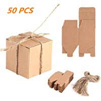 Zerodis 50pcs Cajas de Cartón Kraft para, 5x5x5cm