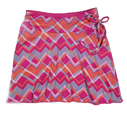 Colorado Clothing Tranquility Girls Sporty Skort (Large (10), Pink Zig Zag) ()