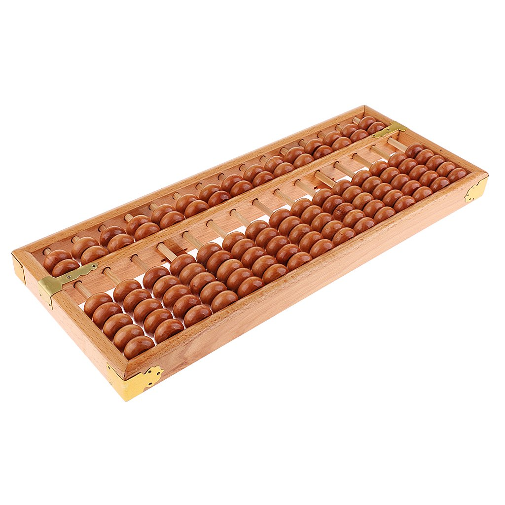 B Blesiya Kids Developing Toy Wood Beads Frame Abacus Calculator for Math Counting