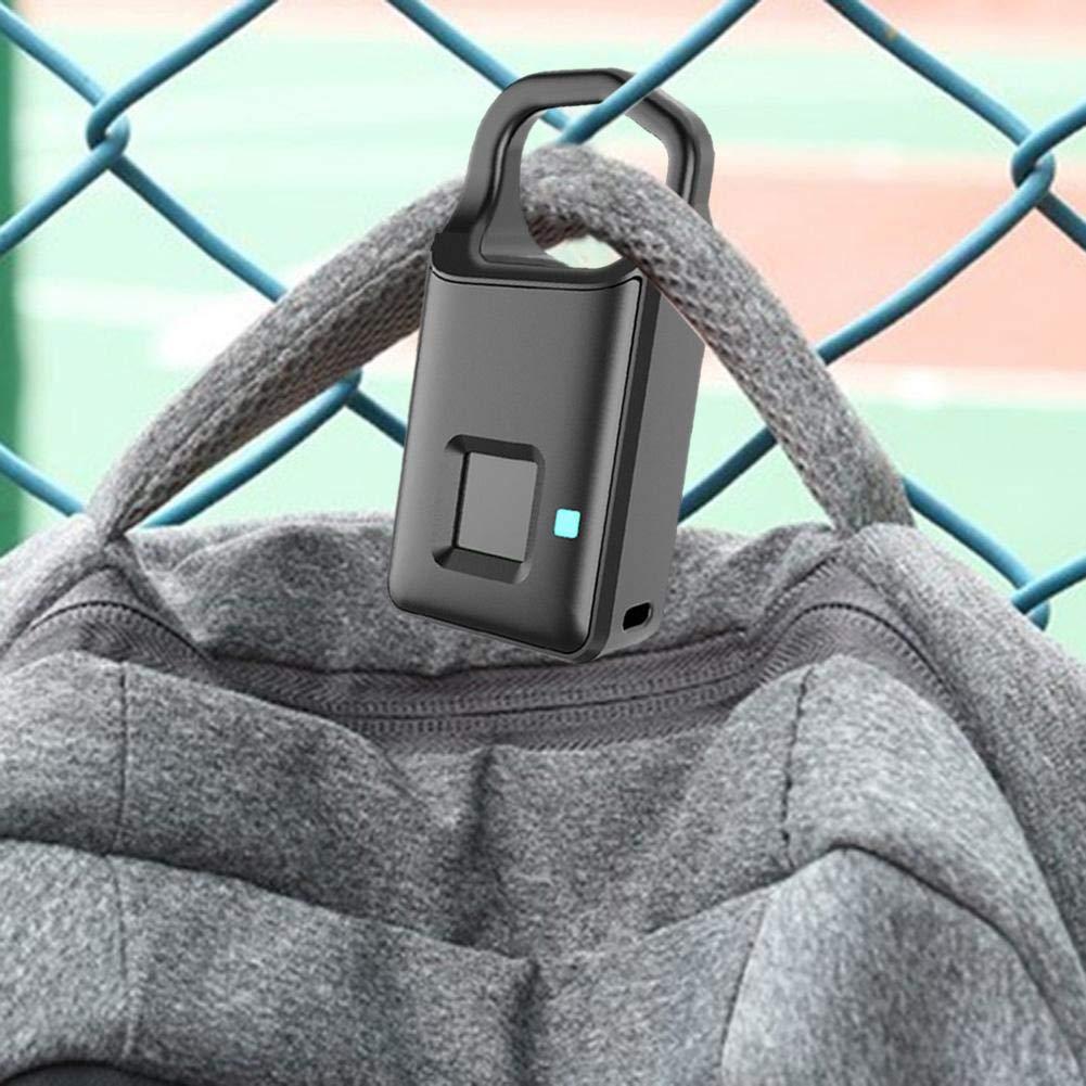 Verrouillage sans cl/é avec contr/ôle APP et Connexion Bluetooth Cadenas de s/écurit/é antivol KiGoing Cadenas /à Empreinte Digitale Cadenas de s/écurit/é /étanche