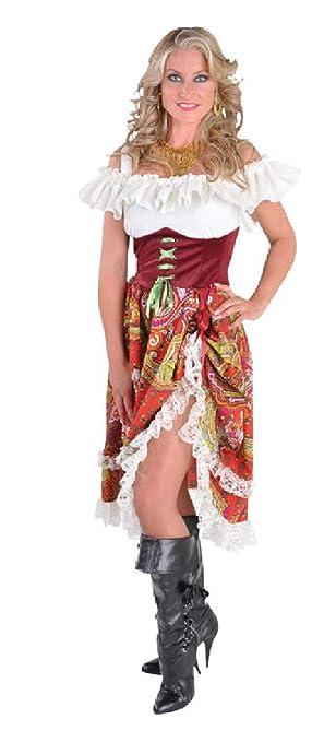 S Bordeaux Rot Kleid Zigeuner M212106 Narrenkiste Damen Ungarisches BCxoed