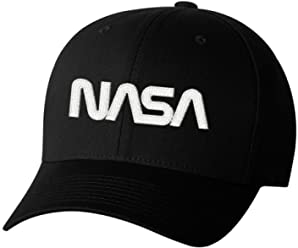 837f47156fb Nasa Worm Insignia Logo Hat Space Exploration Embroidered Hat 4 Colors