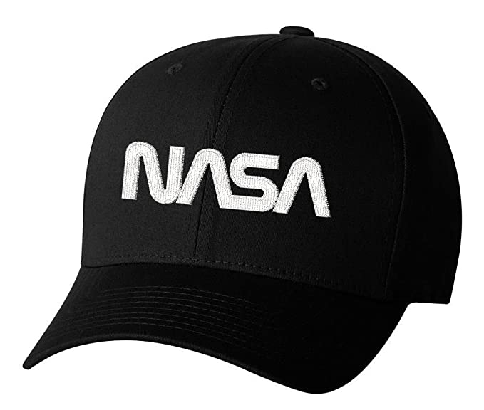 42a7c3c129e Nasa Worm Insignia Logo Hat Space Exploration Embroidered Hat 4 Colors -  Black - OSFA Adjustable