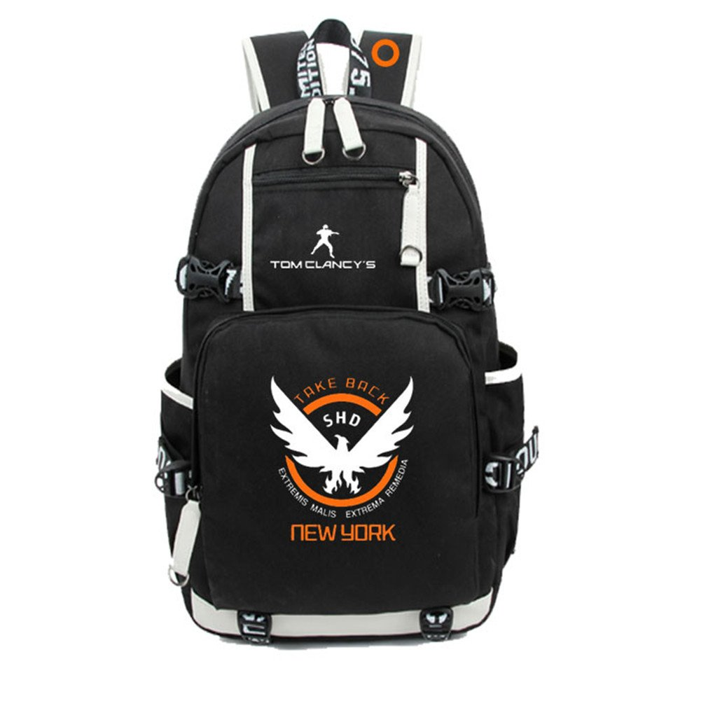 SP Tom Clancy 's The DivisionバックパックforスクールバッグBook Travelbag  2 B07FGVLQYQ