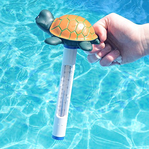 Milliard Floating Pool Thermometer Turtle, Large Size with String, for Outdoor and Indoor Swimming Pools, Hot Tub, Spa, Jacuzzi and Pond