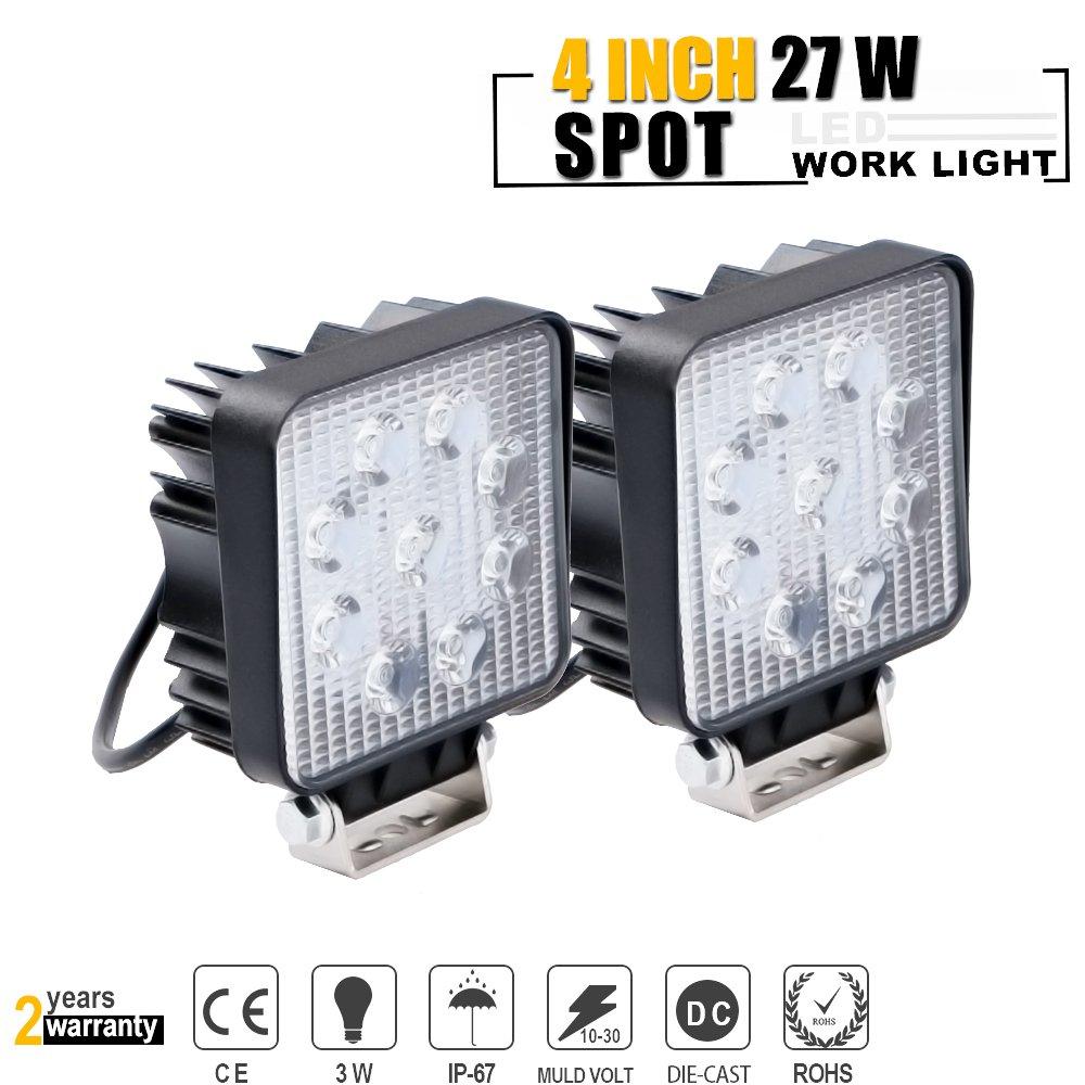 27w Led Work Light Bar Spot Lamp For Polaris Ranger