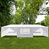 SSLine 10'x30' Party Wedding Tent Outdoor Waterproof Canopy with Windows and Removable Sidewalls Heavy Duty Patio Gazebo Pavilion - (8-Sidewall)