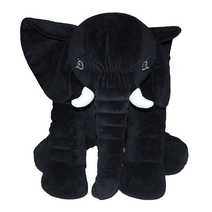 sdtdia Baby Soft Plush Elephant Kids Lumbar Cushion Toy Large Size Beige
