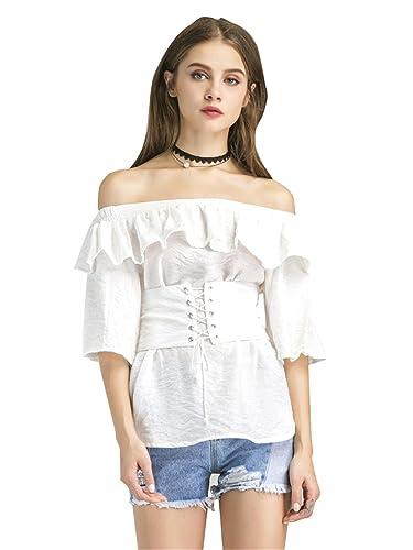 Haroty - Camisas - Top corto - para mujer
