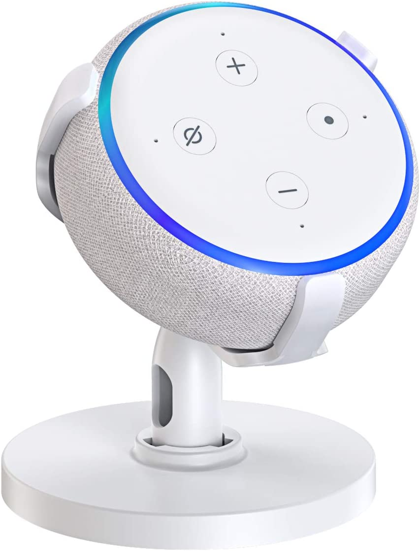 Am/éliore la Visibilit/é du Son et laspect Dot 3 Accessoires pour Cuisine Chambre 3/ème G/én/ération Bovon Support de Table pour Dot 360/° R/églable Support de Fixation pour Home Voice Assistants