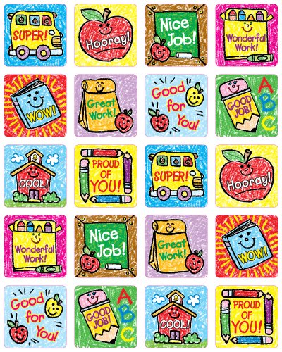 Carson Dellosa School Days: Kid-Drawn Motivational Stickers (0630) - Kid Drawn Stickers