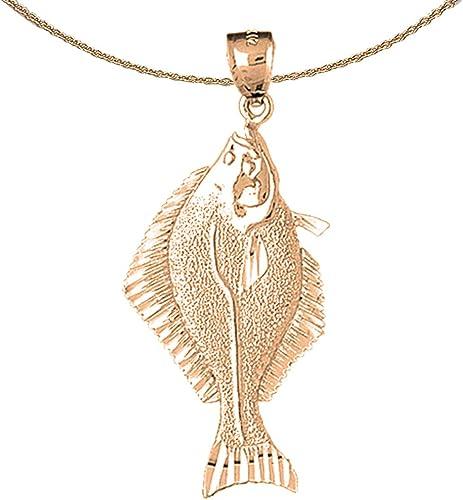 Jewels Obsession Halibut Pendant 53 mm Sterling Silver 925 Halibut Pendant