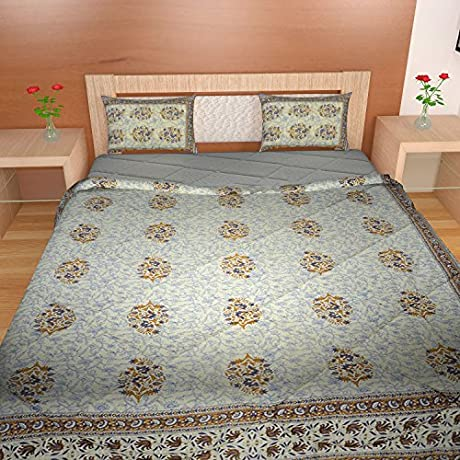 TRADITIONAL MAFIA RSES333183 3PCS Set Quilt Size 88 X 102 Approx Pillow Covers Regular Size Multicolor