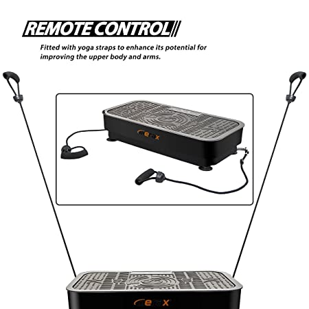 Merax Whole Body Vibration Platform Exercise Fitness Machine with Straps and Remote Control