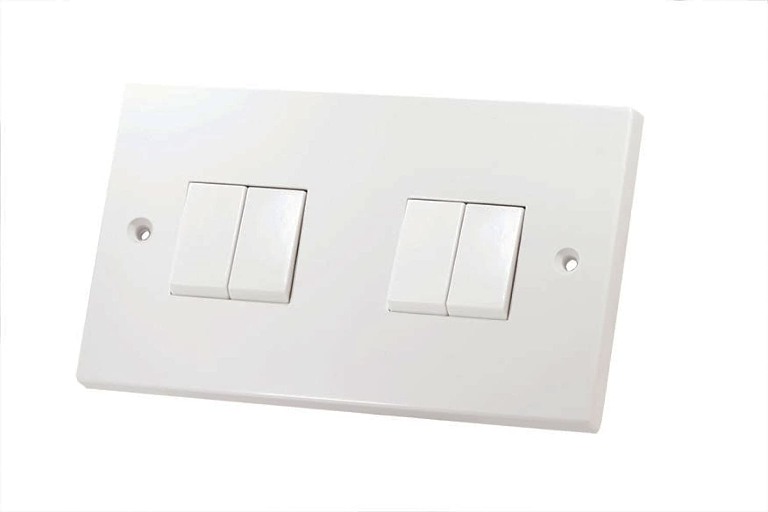 2 Gang Way Light Switch White Plastic Lg202 Diy Tools Wiring A Two 4 Lg204