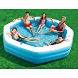Inflatable Family Swimming Pool with Cup Holders