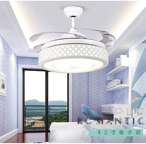 Ventilador de Techo Lámparas de Luz Lámparas de Jardín Blanco Moderno Contemporáneo Dormitorio Sala de Estar Creativo Sigilo Moderno Moderno Simplicidad Ventilador de Techo Lámpara de Araña, ChuanHa: Amazon.es: Deportes y aire